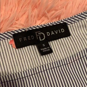 Fred David Tops - Striped Blouse with Flowers